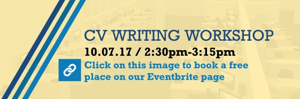 CV Writing Workshop - book your place now!